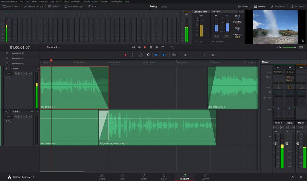 Da Vinci Resolve - software pro zpracování videa/audia